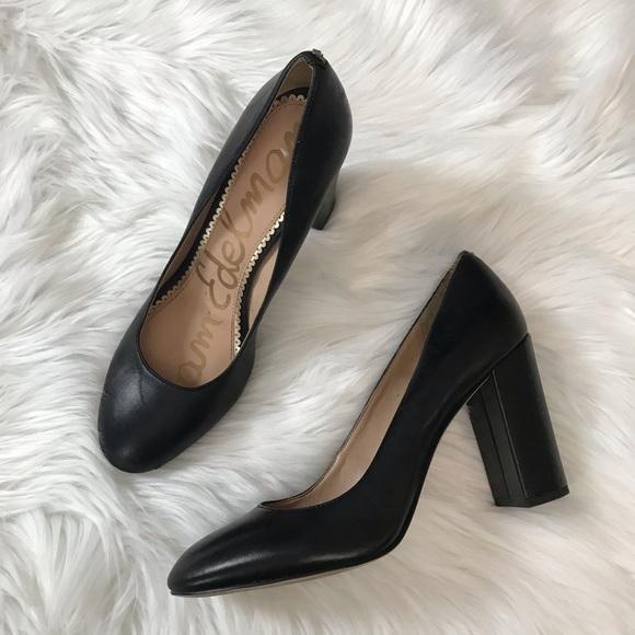 909ebe8a4b5a Sam Edelman Stillson black matte leather pumps. M 5c312dead6dc529c89390e06